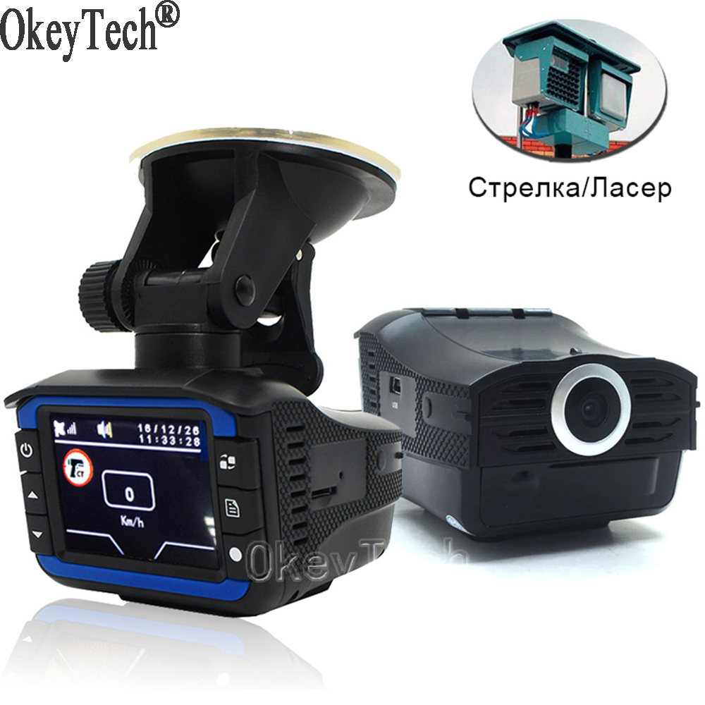 OkeyTech 3 In 1 Car Radar Detector GPS Tracker DVR Alarm System Warning Device 2.0 Inch Display 140 Degree Lens Russian Version 1000mw high speed mini laser cutter usb laser engraver cnc router automatic diy engraving machine off line operation glasses