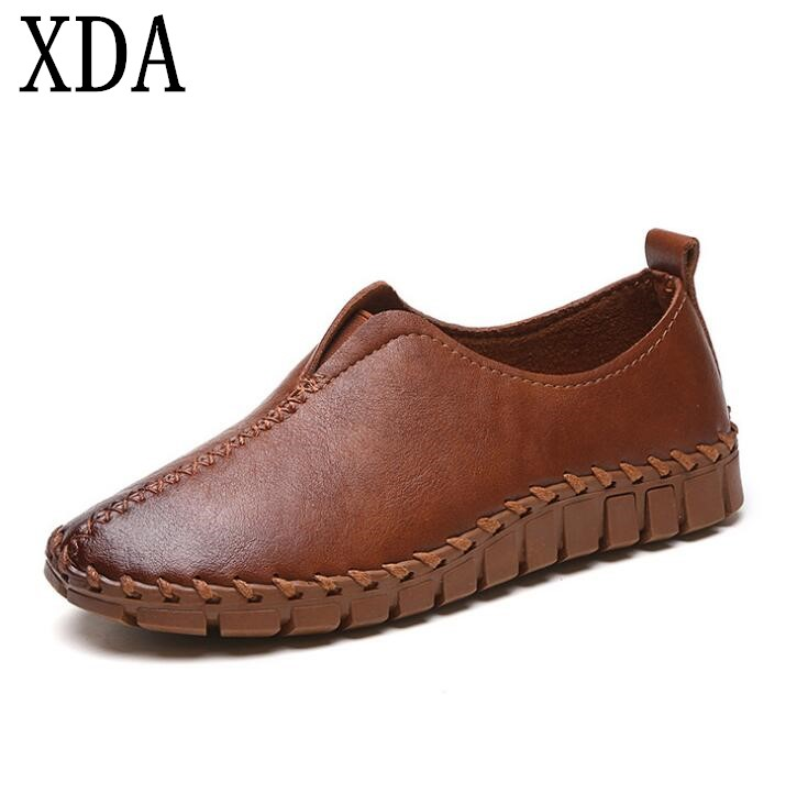 XDA 2018 new fashion Loafers Spring Ballet Flats Round Toe Shoes Woman Comfortable Casual Women Flat Single Shoes women s shoes 2017 summer new fashion footwear women s air network flat shoes breathable comfortable casual shoes jdt103