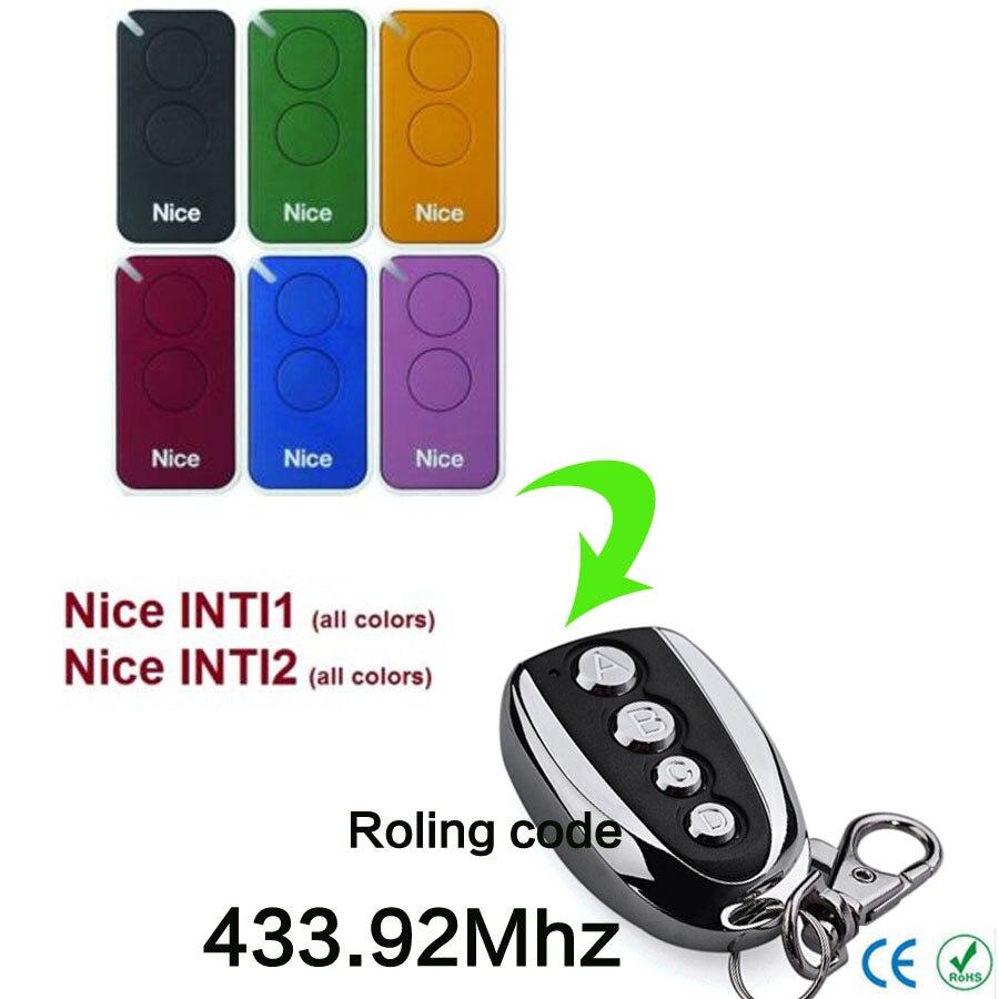 NICE INTI1 radiocomando 433.92Mhz rolling code.