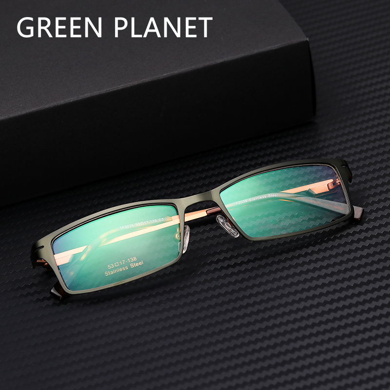 Men Metal Glasses Frame Black Full Rim Vintage Retro Myopia Computer Blue Light Clear Frame Optical Eyewear#TF2039