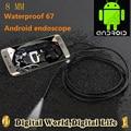 8mm Dia  Micro USB endoscope Android phone Borescope Camera1/1.5/2/3.5 IP67 waterproof mini camera  6 LED  USB endoscope