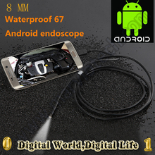 8mm Dia 1/1.5/2/3.5/5m Length Micro USB Android phone Borescope Camera IP67 waterproof mini camera HD720P 6 LED OTG USB endoscop