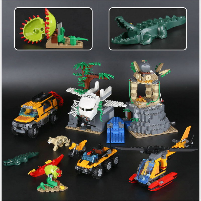 LEPIN City Jungle Exploration Raiders of Lost Ark Figure Blocks Compatible Legoe 60161 Construction Building Toys For Children waz compatible legoe city lepin 2017 02022 1080pcs city 50th anniversary town figure building blocks bricks toys for children