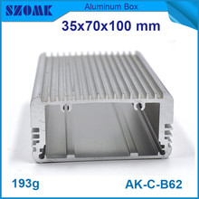 10pcs/lot top sales heatsink aluminum housing enclosure silvery wall mounting control case 35*70*100mm