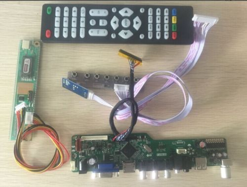 Latumab New  Kit For CLAA150XH01 TV+HDMI+VGA+USB LCD LED Screen Controller Driver Board  Free Shipping