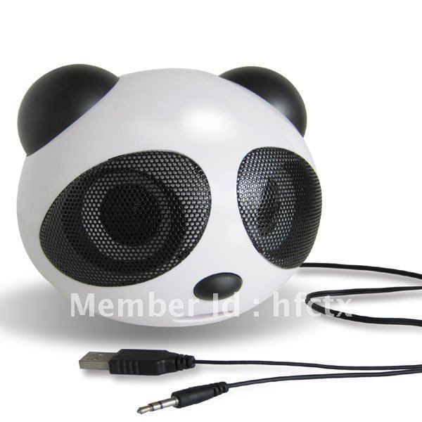 panda Style stereo Usb speaker for notebook