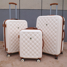 "Vintage Travel Suitcase 24""Women Trolley Case Rolling Luggage luxury brands 28inch Men PC Commercial Box with wheels travel bag(China)"