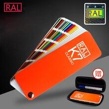 Германия RAL K7 международный стандарт цветная карта Рауль-краска покрытие цветная карта с подарочной коробкой