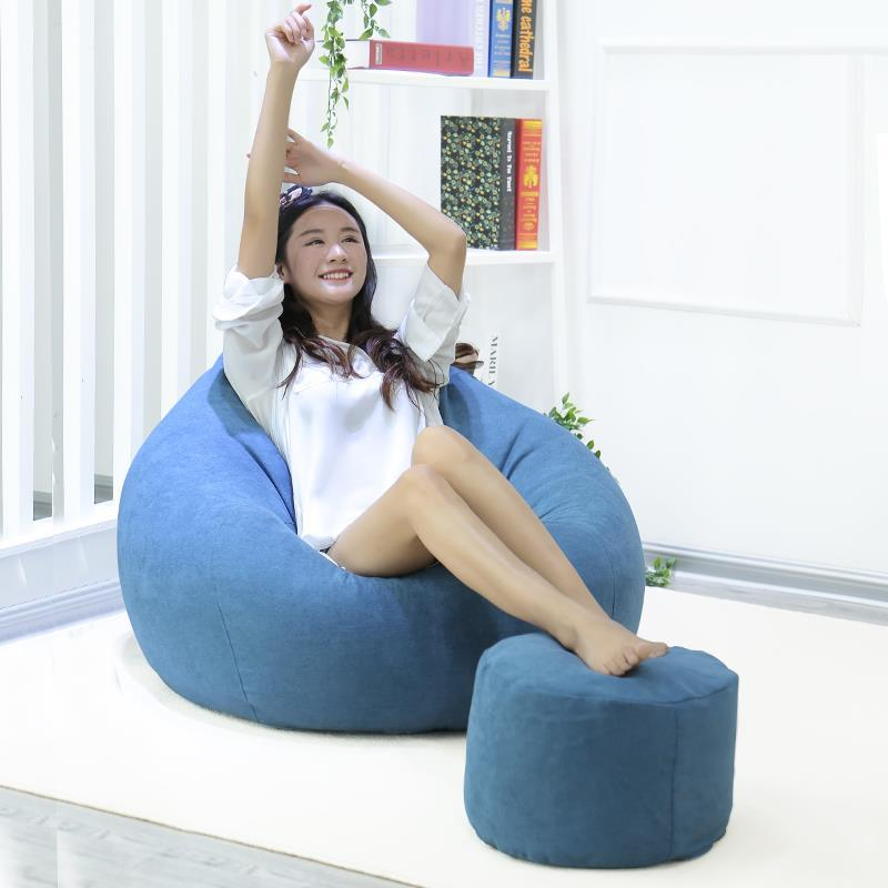 Gold Single Zitzak Kanepe Divano Boozled Kids Bed Sandalyeler Copridivano Beanbag Cadeira Chair Puff Asiento Bean Bag Sofa