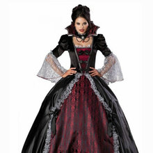SC-795 Victorian Gothic/Vintage Dress Halloween Theater Flare Sleeve dress Custom made