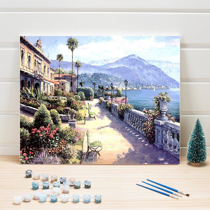US $10.42 10% OFF|Pictures Painting By Numbers Country Landscape DIY  Acrylic Paint Color Art On Canvas For Living Room Wall Decor Adults Draw  Kits-in ...