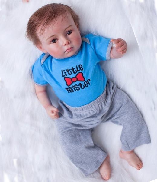 22 pouces Silicone réaliste Bonecas bébé réaliste réel toucher simulation infantile poupées bebe mignon poupée bébés jouer maison jouet