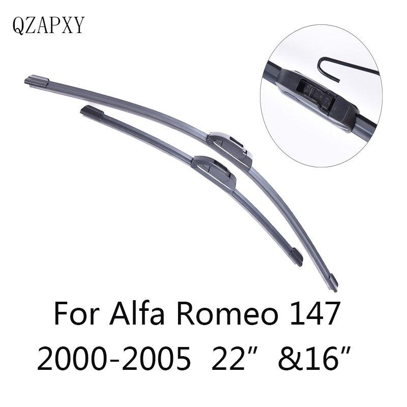 QZAPXY Car Windshield Wiper Blades for Alfa Romeo 147 22