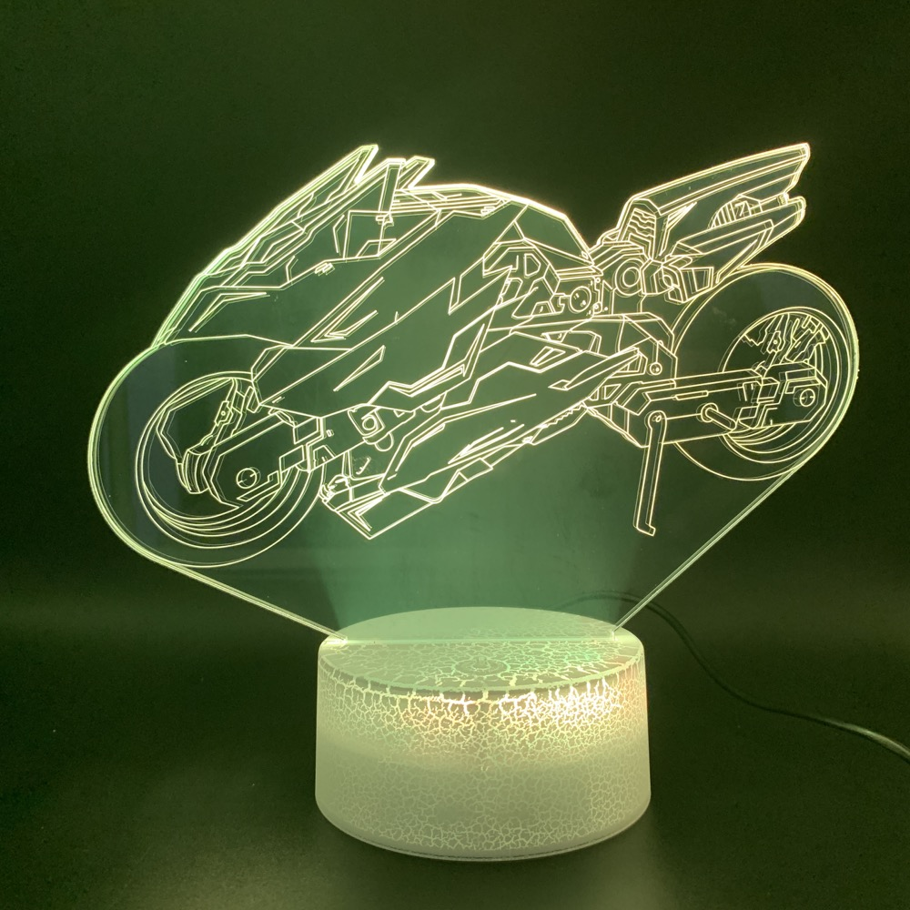 Cool Novelty Light 3d Lamp Vehicles Motorcycle Office Home Bedroom Decorative Light Boy Kids Child Birthday Gift Led Night Light