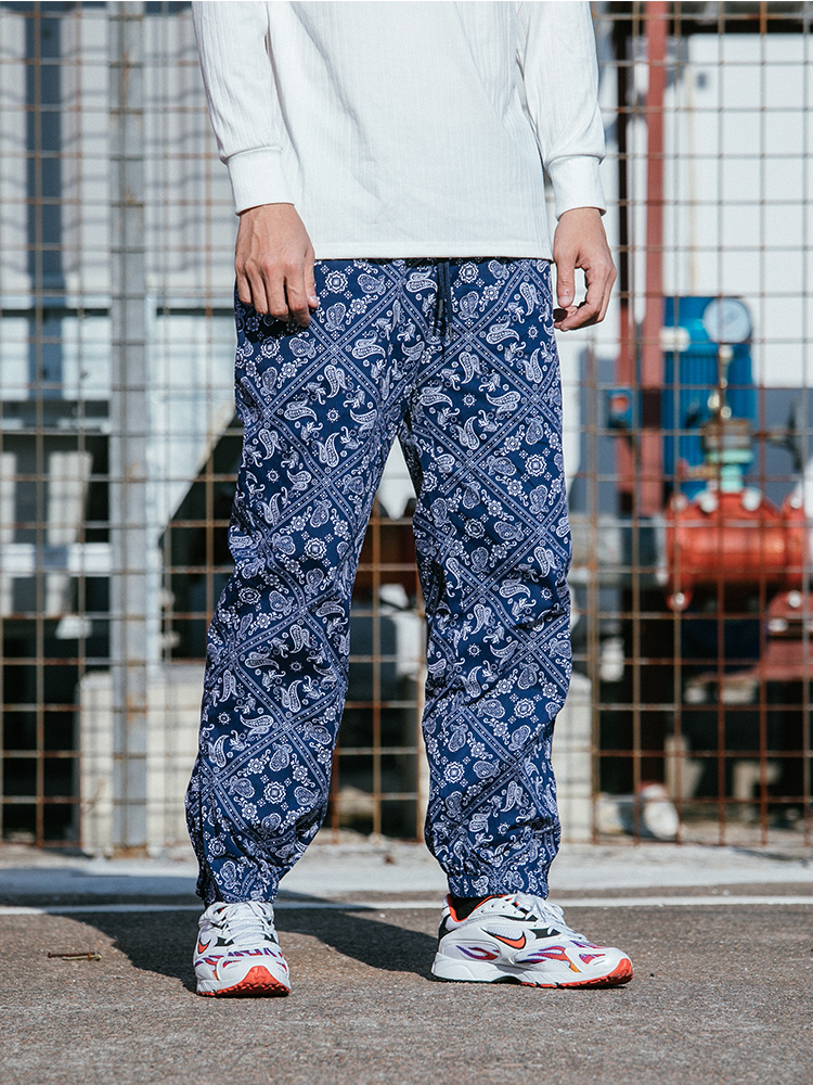 Aolamegs Harem Pants Men Skull Print Pencil Pants Elastic Waist Track Pants Trousers Mens Hip Hop
