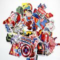 50 Pieces/lot Super Heroes Stickers Batman Superman Ironman Hulk Car Laptop Suitcase Skateboard Bicycle Waterproof Sticker