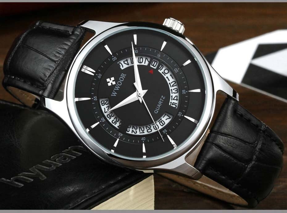 New Quartz Mens Watches Top Brand Luxury Complete Calendar Men\'s Wrist Watch Genuine Leather Strap Men Wristwatches  2019 (5)