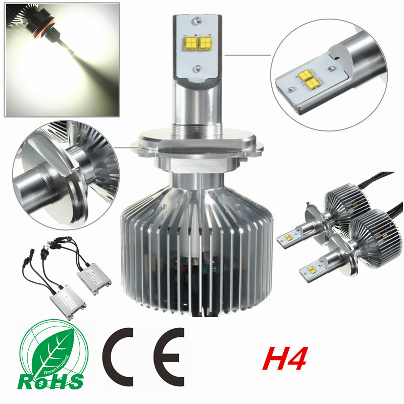 2x 90W H4 H7 H11/H8/H9 9004 9005 9006 LED Car Headlight Bulbs Conversion Kit LED Car Front Lamp Light 6000K Super Bright