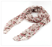 Fashion Women Ladies Smaller Floral Scarf 2014 Spring Summer New Polyester Beach Shawl Wrap Scarves Free