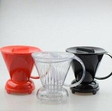 Free Shipping Espresso Coffee Driper Black/Red/Clear