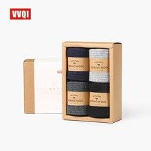 Vvqi 겨울 남성 양모 양말 따뜻한 바닥 양말 수출 품질 브랜드 양말 비즈니스 4packslot 블랙 아니 상자