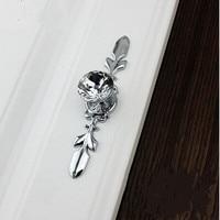 K9 Crystal Kitchen Cabinet Drawer Knob Pull Glass Diamond Dresser Cupboard Door Handle Silver Back Plate