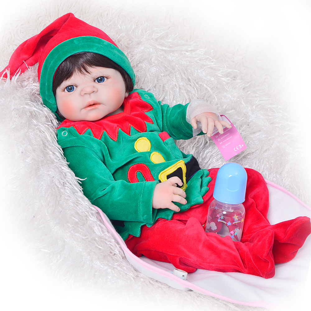 2017 New 57 cm Reborn Baby Dolls Toy Cosplay Christmas Tree Safe Babes Full Vinyl Body Doll 23 Design For Kids Xmas Gifts