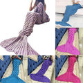 Hot Sell Knitted Mermaid Tail Blanket Leg Warmers Super Soft Handmade Crochet Anti-Pilling Portable For Adult and Kids