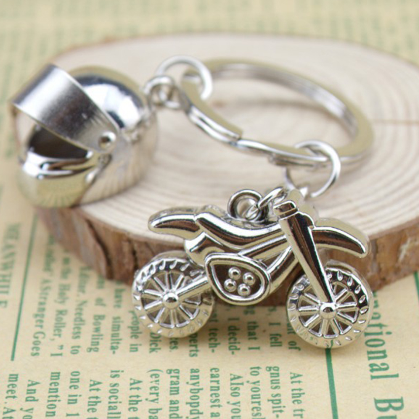 Motorcycle Key Chain for Man Stainless Steel Key Chains Key Rings Helmet Car Keychains Best Christmas Gifts Car Key Ring