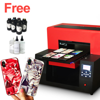 Colorsun Automatic A3 UV led printer UV printer a3 for phone case,glass,acrylic,PVC with RIP 9.0 software with 6*500ml UV ink