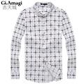 New Mens Shirts Casual Slim Permanent Press Cotton Chemise Homme High Quality Men'S Fashion Plaid  Men's Dress Shirts