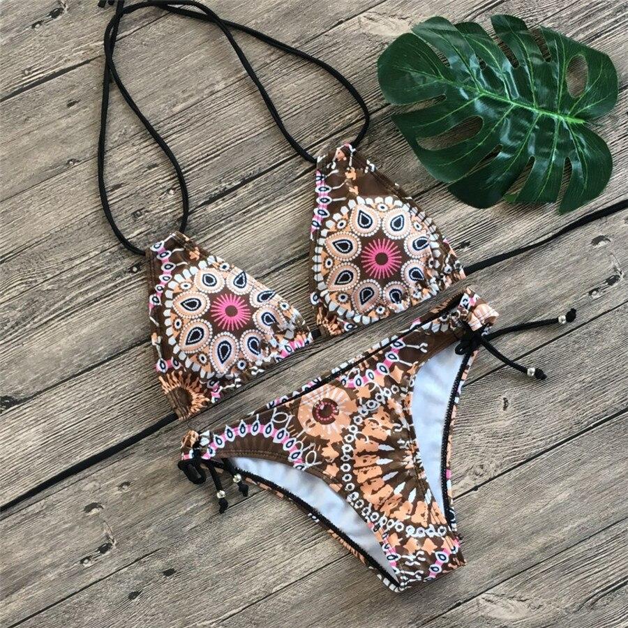 HTB1P3MvavvsK1Rjy0Fiq6zwtXXaf Floral print bikinis 2019 new swimwear women swimsuit beach bathing suit maillot de bain femme biquini sexy brazilian bikini set
