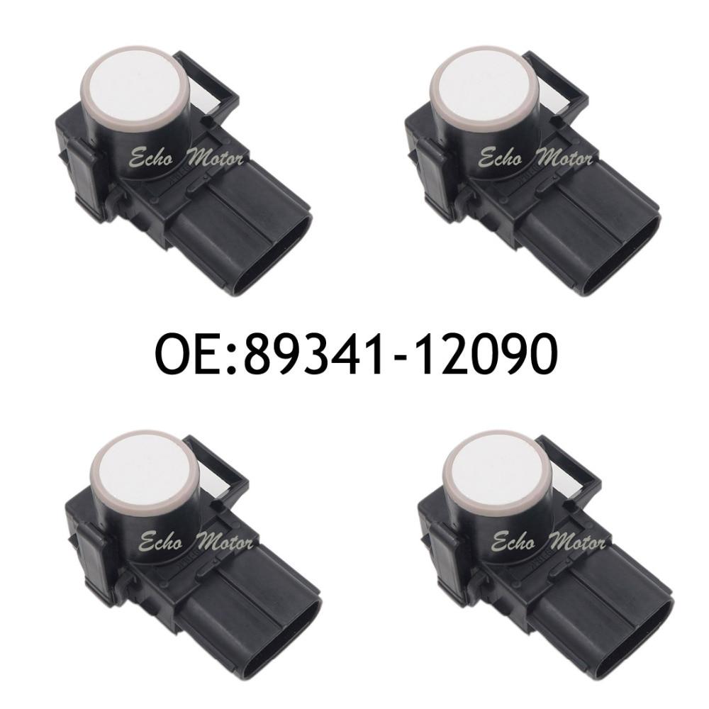New SET(4) 89341-12090 188300-0780 Parking Sensor Distance Control Sensor Car Detector for Toyota  White Color new set 4 89341 0c010 42342 parking ultrasonic sensor for toyota tundra 2014 2015 left right 0c010 42342