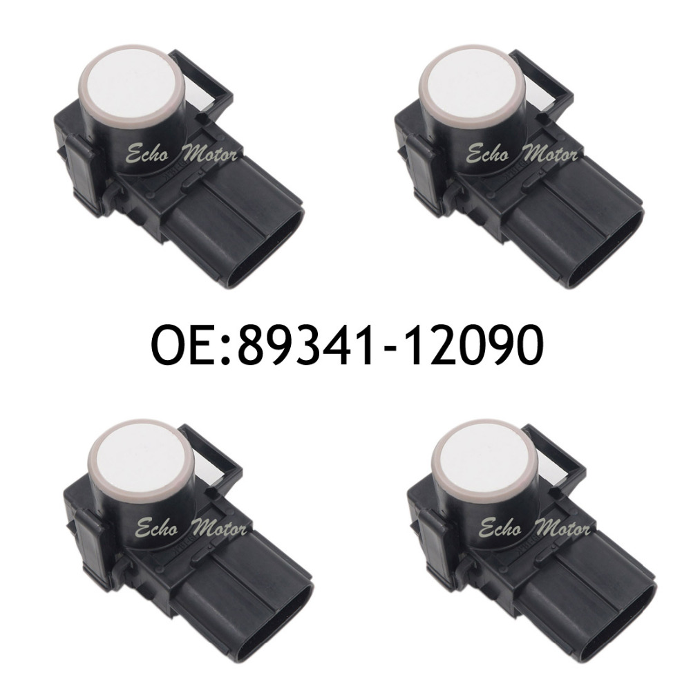 Nouveau SET (4) 89341-12090 188300-0780 capteur de stationnement capteur de contrôle de Distance détecteur de voiture pour Toyota couleur blanche