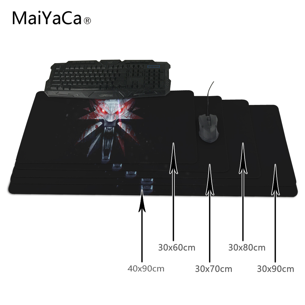 MaiYaCa The Witcher 3 Mouse Pad Ultimate Gaming Mousepad Natural Rubber Gamer Mouse font b Mat