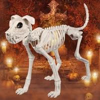 Skeleton Big Size Dog 100% Plastic Animal Skeleton Bones for Horror Halloween Decoration Gift Box free shipping