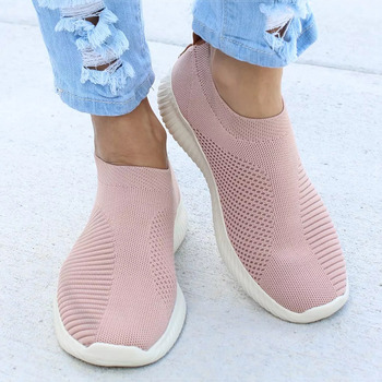 Women Flat Slip on White Shoes Woman Lightweight White Sneakers Summer Autumn Casual Chaussures Femme Basket Flats Shoes 4