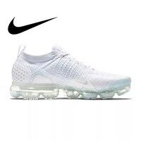 Оригинальный Nike Оригинальные кроссовки AIR VAPORMAX FLYKNIT 2 Спортивная обувь для мужчин свет износостойкая дышащая одежда Беговые кроссовки 942842