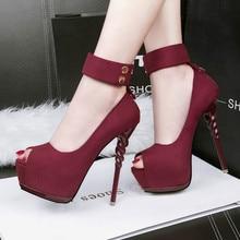 New Women Pumps Shoes Fashion Flock Peep
