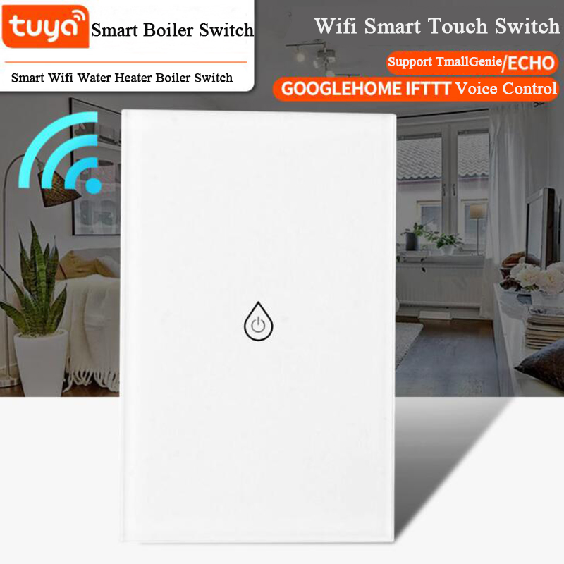 Lighting Accessories Shop For Cheap Wifi Smart Boiler Switch Touch Panel Water Heater Timer Switch Smart Life Tuya App Alexa Google Home Voice Control Us Standard Cheapest Price From Our Site