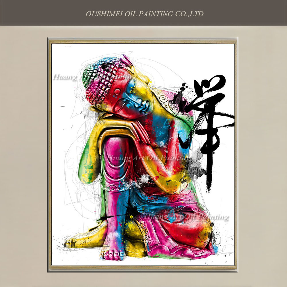 Buy museum quality hand painted modern for Colorful wall art