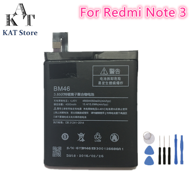Phone-Battery Xiaomi Redmi BM46 4000mah Ce For Note-3 High-Quality AAA Gift-Tools