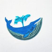AZSG Wandering blue whale Cutting dies/scrapbooking dies metal Dies scrapbooking Dies azsg quiet night cutting dies scrapbooking dies metal dies scrapbooking dies