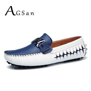 AGSan; мужские лоферы; натуральная кожа; Повседневная обувь без шнуровки; мужские водонепроницаемые мокасины; итальянский стиль; дизайнерские...