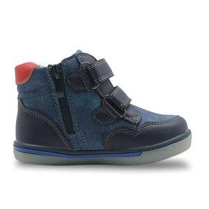 Image 3 - Apakowa/осенне весенние зимние Ботинки Martin для маленьких мальчиков на молнии; Модные детские ботильоны для мальчиков; Детская обувь с поддержкой арки
