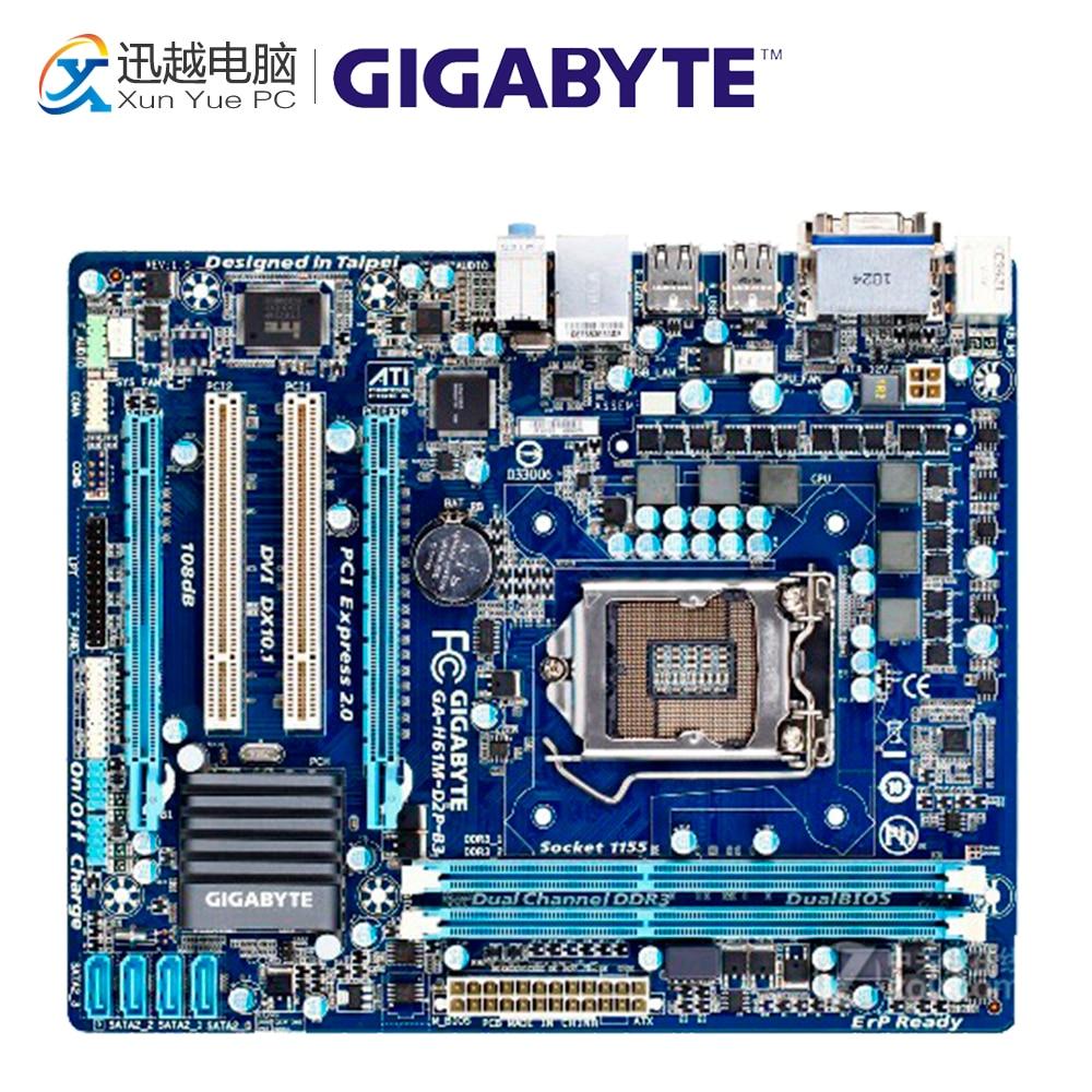 все цены на Gigabyte GA-H61M-D2P-B3 Desktop Motherboard H61M-D2P-B3 H61 LGA 1155 i3 i5 i7 DDR3 16G Micro-ATX