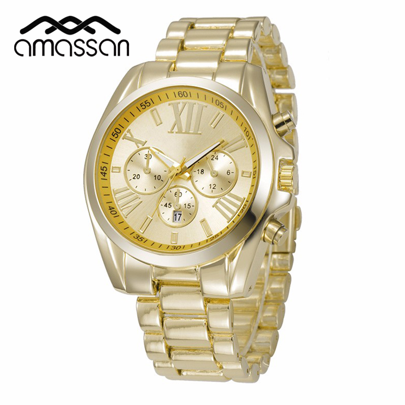 silver and gold mens watch bands promotion shop for promotional newly design women men watches rose gold silver geneva metal band steel quartz wrist watch quartz wristwatches