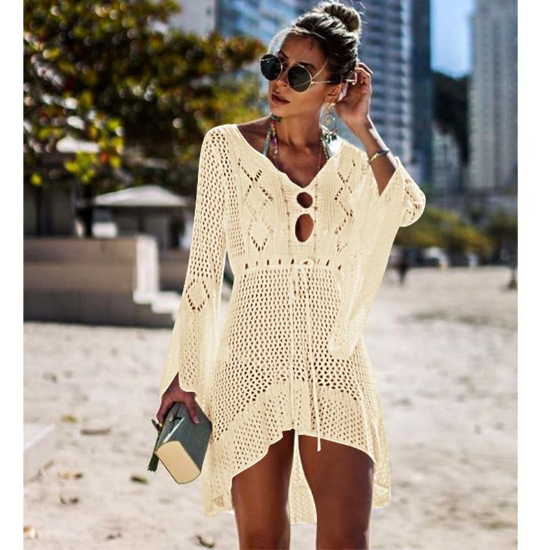 56aa69d9a21 Maxmessy Одежда заплыва Обёрточная бумага груди крышку ИБП пляжное платье  юбка праздник Бикини Cover Up с