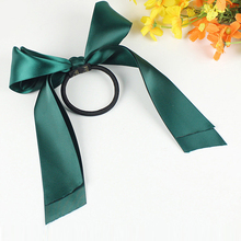 Scrunchies Ponytail Holder Gum for Girls Hair Accessories Women Rubber Bands Tiara Satin Ribbon Hair Bow Elastic Hair Band Rop цена 2017