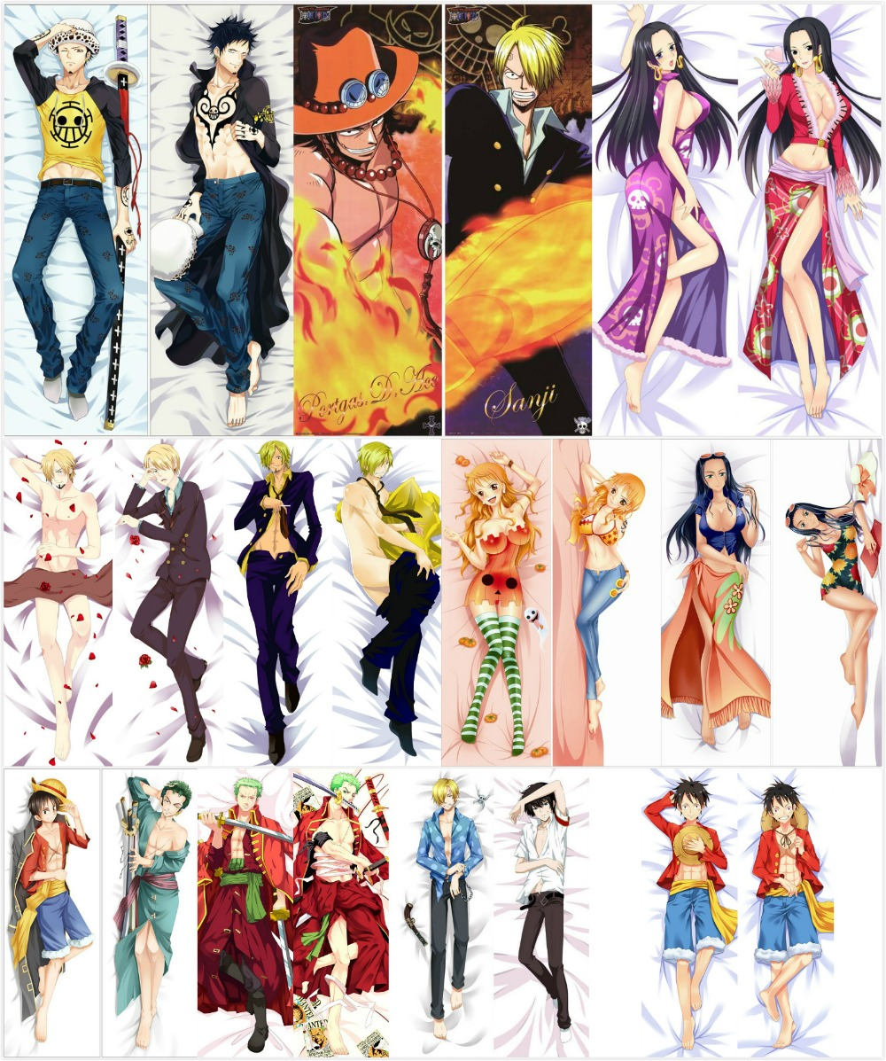Japanese anime One Piece Trafalgar Law Male Hugging Body Pillow Covers Case BL Bedding Pillowcases
